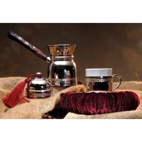 SCK Sedef Saplı Cezve Kahve Seti