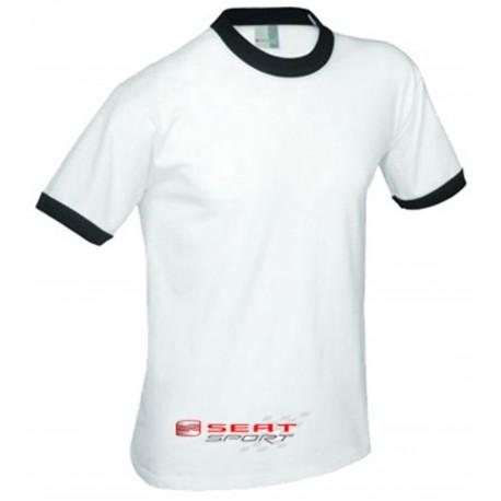 Rk Renkli Yaka ve Kol Biyeli T-shirt